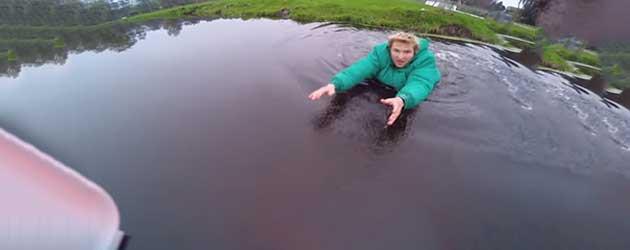 Eerste Vlucht Met Drone Belandt In Het Water
