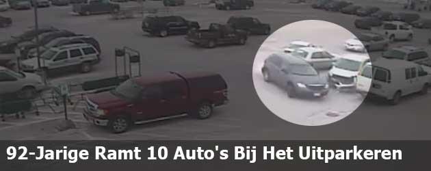 92-Jarige Ramt 10 Auto's Bij Het Uitparkeren