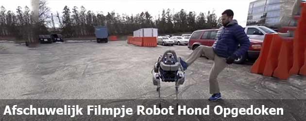 Afschuwelijk Filmpje Robot Hond Opgedoken