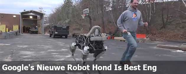 Google's Nieuwe Robot Hond Is Best Eng
