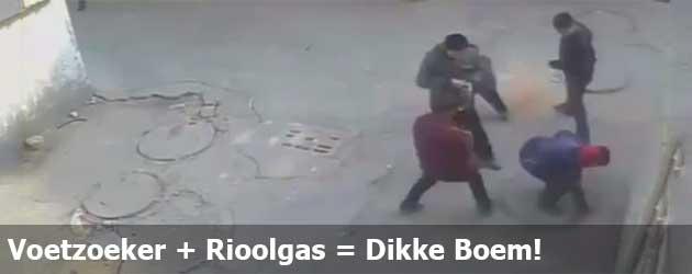 Voetzoeker + Rioolgas = Dikke Boem!
