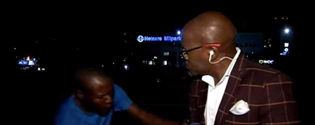 Verslaggever Live Op Zender Beroofd