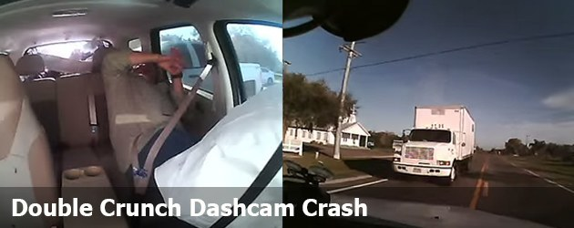 Double Crunch Dashcam Crash