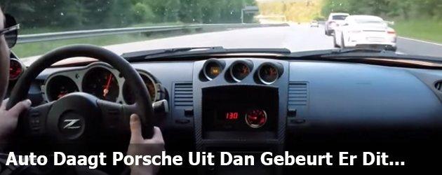 Auto Daagt Porsche Uit...Dan Gebeurt Er Dit...