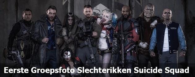 Eerste Groepsfoto Slechteriken Suicide Squad