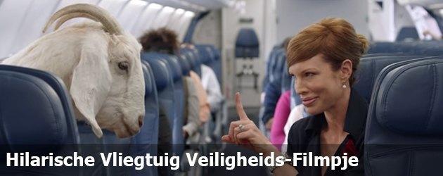 Hilarische Vliegtuig Veiligheids-Filmpje