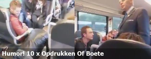 Humor! 10 x Opdrukken Of Boete