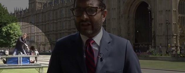 Geniale VideoBomb Tijdens Sky News