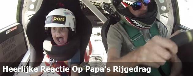 Heerlijke Reactie Op Papa's Rijgedrag