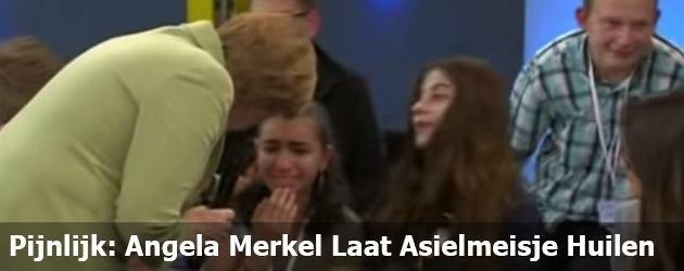 Pijnlijk: Angela Merkel Laat Asielmeisje Huilen