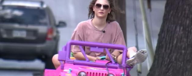 Rijbewijs Kwijt, Dan Maar Met De Barbie Auto