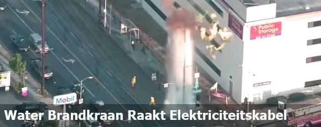 Water Brandkraan Raakt Elektriciteitskabel