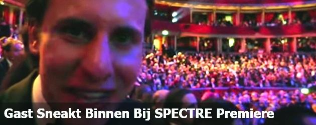 Gast Sneakt Binnen Bij SPECTRE Premiere