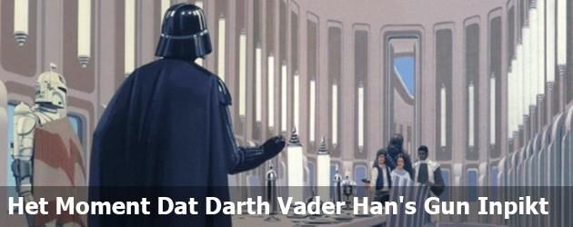 Het Moment Dat Darth Vader Han's Gun Inpikt