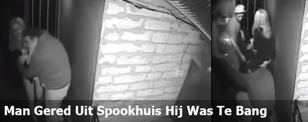 Man Gered Uit Spookhuis Hij Was Te Bang