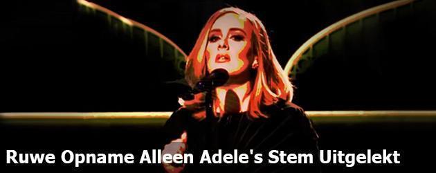 Ruwe Opname Alleen Adele's Stem Uitgelekt