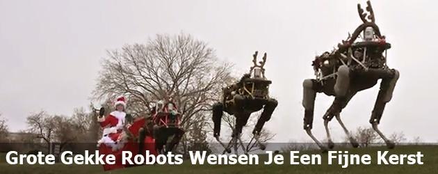 Grote Gekke Robots Wensen Je Een Fijne Kerst