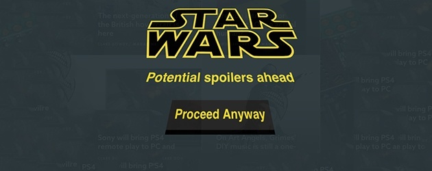 Handig! De Star Wars Spoiler Blocker