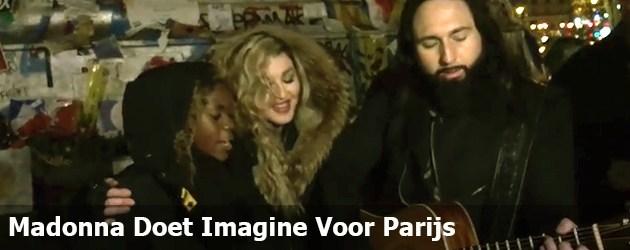 Madonna Doet Imagine Voor Parijs