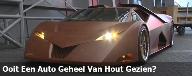 Ooit Een Auto Geheel Van Hout Gezien?