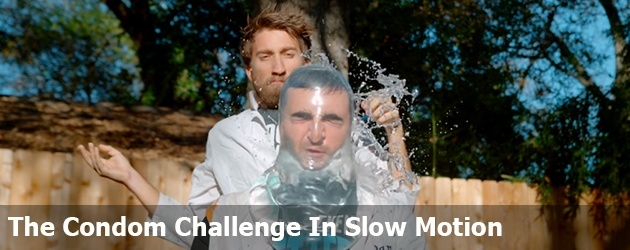 The Condom Challenge In Slow Motion