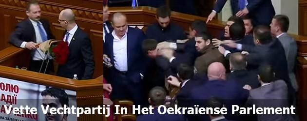 Vette Vechtpartij In Het Oekraïense Parlement