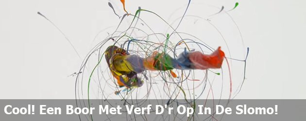 Cool! Een Boor Met Verf D'r Op In De Slomo!