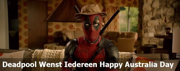 Deadpool Wenst Iedereen Happy Australia Day