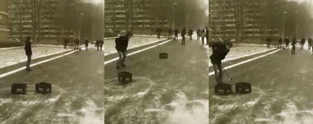 Yessss! Bierkrat IJzel Curling In Groningen!