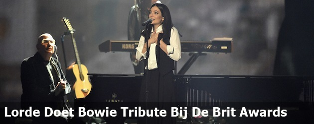 Lorde Doet Bowie Tribute Bij De Brit Awards