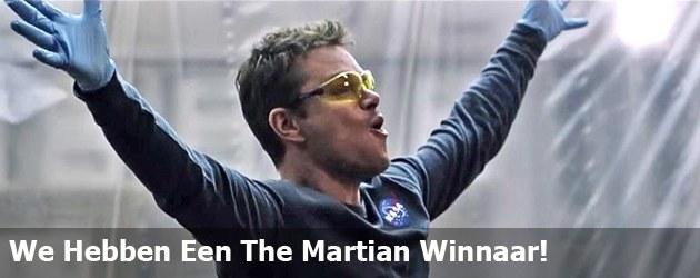 We Hebben Een The Martian Winnaar!