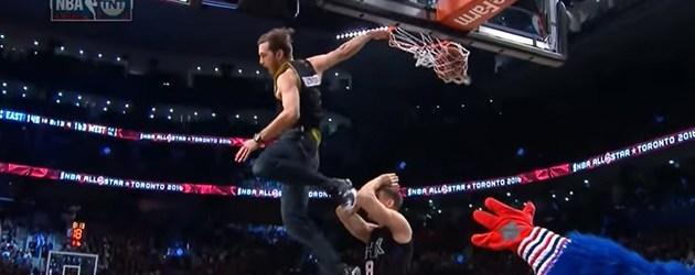 Dunk Baas Tijdens NBA All-Star Game