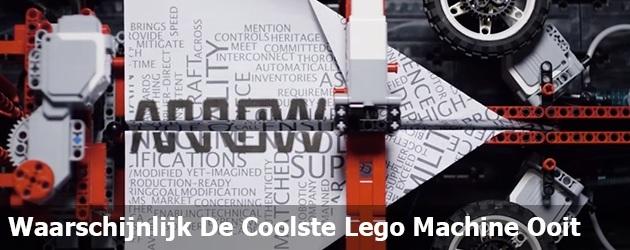 Waarschijnlijk De Coolste Lego Machine Ooit