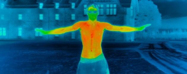 Warmte camera legt de impact van vrieskou op je lichaam vast