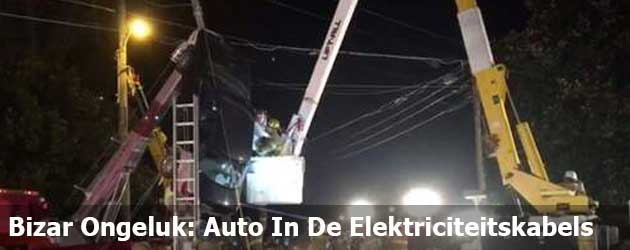 Bizar Ongeluk: Auto In De Elektriciteitskabels