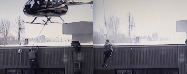 Spectaculaire beelden ontsnapping met een helikopter uit de gevangenis
