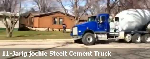 11-Jarig jochie Steelt Cement Truck Voor Een Joyride
