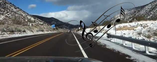 Snelweg Zingt Liedje Wanneer Je Er Overheen Rijdt