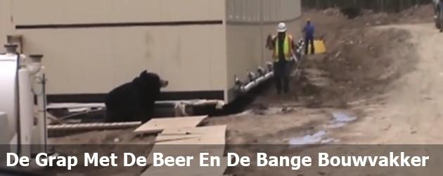 De Grap Met De Beer En De Bange Bouwvakker