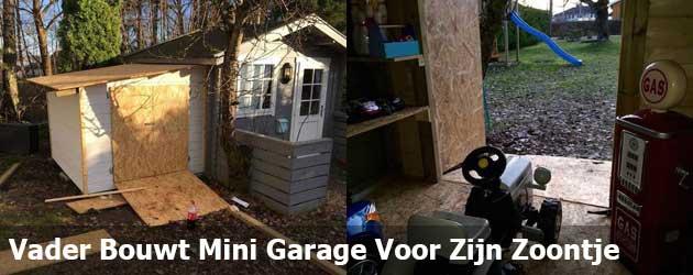 Vader Bouwt Mini Garage Voor Zijn Zoontje