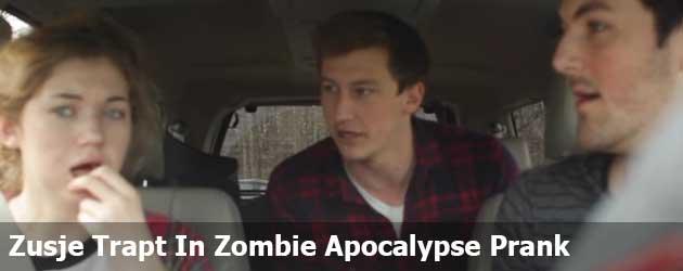 Grote Broer Laat Zusje geloven Dat Zombie Apocalypse begonnen Is