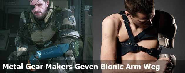 Metal Gear Makers Geven Bionic Arm Weg