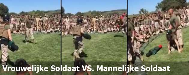 Vrouwelijke Soldaat VS. Mannelijke Soldaat Wie Wint?