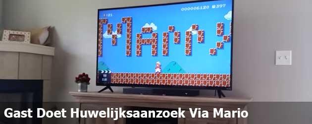 Gast Doet Huwelijksaanzoek Via Mario
