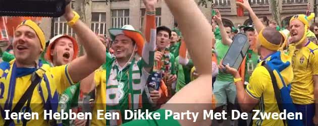 Ieren Hebben Een Dikke Party Met De Zweden