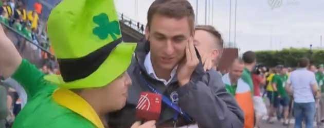 Ierse Supporters Versus Verslaggever