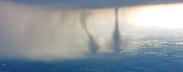 Vet! Een Dubbele Tornado In Duitsland!