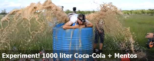 Experiment! 1000 liter Coca-Cola + Mentos