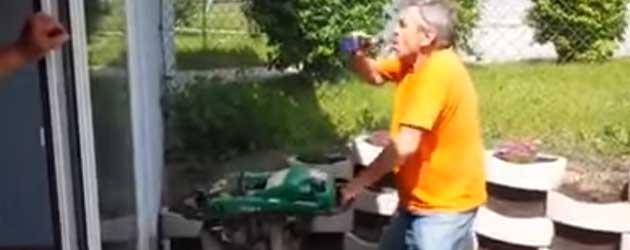 FAIL! Bier Drinken Met Een Tril Machine