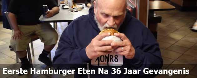 Hij Eet Voor Het Eerst Een Hamburger Na 36 Jaar Onschuldig Vast Gezeten Te Hebben